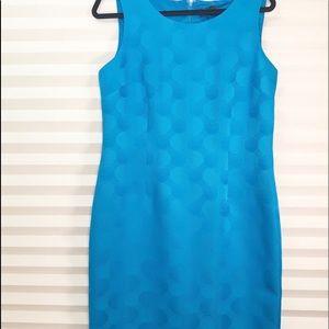 Kasper Career dress blue size 10 with kick pleat
